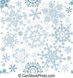 Seamless pastel christmas pattern - Seamless white-blue...