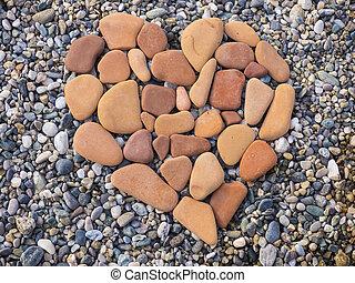 pedra, Coração, FORMA