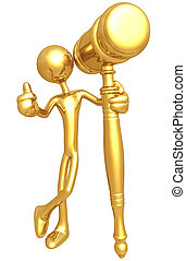 Golden Gavel - A Concept And Presentation Figure In 3D