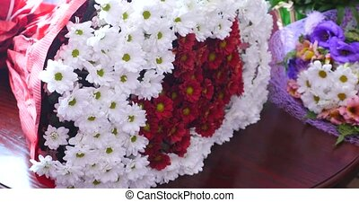 flowers and daisies with large petals and vivid colors,...