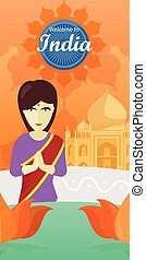 Welcome to India. Indian Woman Opposite Temple. - Welcome to...