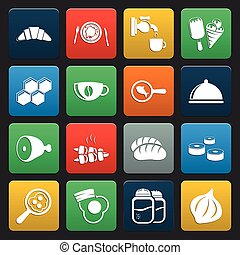 food 16 icons universal set for web and mobile flat