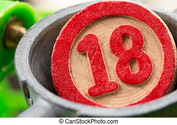 bingo number - eighteen, bingo number