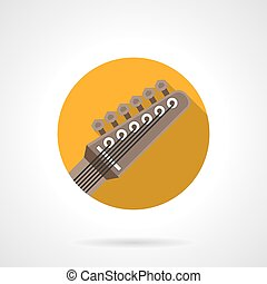 Guitar headstock round flat color vector icon - Guitar...