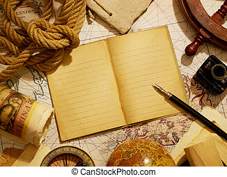 Notebook and navigational equipment - Notebook and marine...
