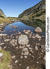 small Lake, Rila Mountain - Landscape with Stones in the...