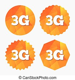 3G sign Mobile telecommunications technology - 3G sign icon...