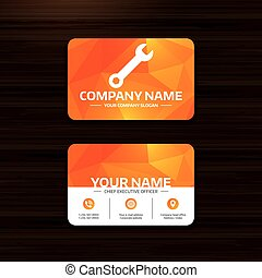 Wrench key sign icon Service tool symbol - Business or...