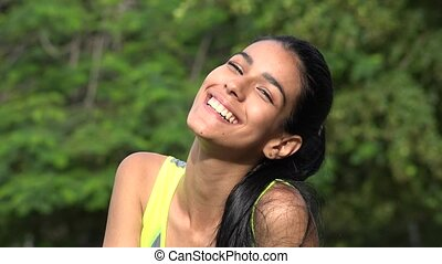 Fit And Thin Girl Laughing