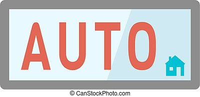 Automatic button vector - Start or stop automatic button for...