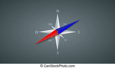 Footage modern compass rotation background 4k video...