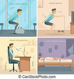 Posture 2x2 Design Concept - Posture 2x2 design concept set...