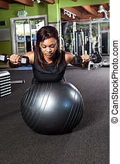 Training athlete - A shot of a black female athlete training...