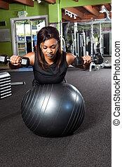 Training athlete - A shot of a black female athlete training...
