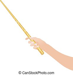 magic wandin hand for witches and wizards vintage sticks...