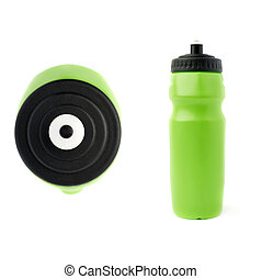 Set of Water bottle isolated over the white background