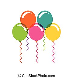 birthday celebration with balloons air party