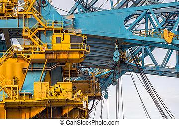 Cabin area of a huge Crane Vessel