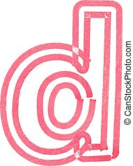 lowercase letter d drawing with Red Marker - letter d...