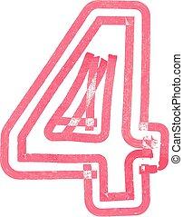 Number 4 vector illustration