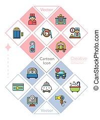 icon set hotel vector