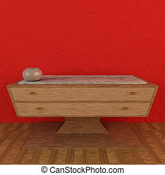 Sideboard - 3D Rendering of a scene with a sideboard