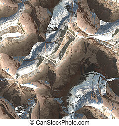 3d mountain texture - aerial view of mountain ranges and...