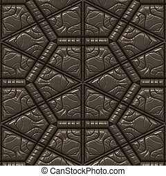 textured leather tile - brown textured leather background...