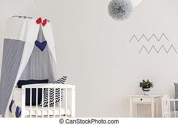 Stylish marine crib - Lovely nursery crib bedding set in...
