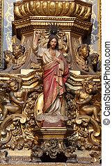 Jesús, Christus, estatua, altar
