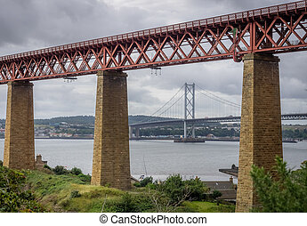 Forth Rail and Road Bridges in Edinburgh