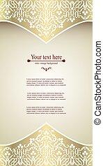 Elegant vintage card, flyer, invitation. template. Design...