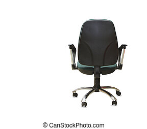 back view of modern office chair from gray cloth Isolated