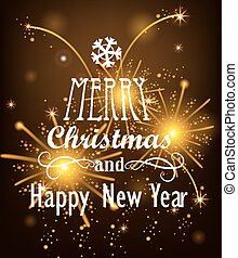 Vector Christmas Messages. - Vector Christmas Messages shine...