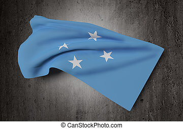 Federated States of Micronesia flag - 3d rendering of...