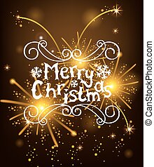 Vector Christmas Messages shine salut background. Vector...
