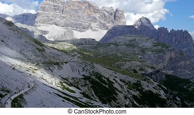Dolomites. Italy. Tre Cime - Italy Dolomites. View of the...