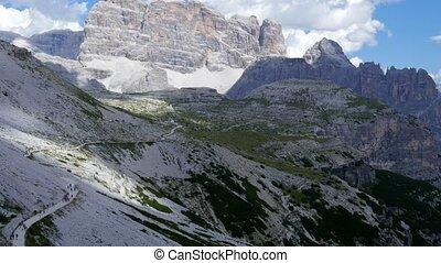 Dolomites. Italy. Tre Cime - Italy Dolomites. View of the...