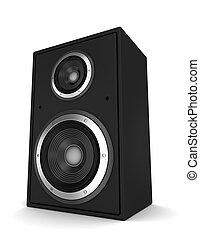 single speaker  3d illustration