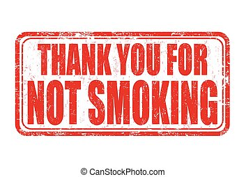 Thank you for not smoking stamp - Thank you for not smoking...