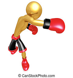 Boxing  - A Concept And Presentation Figure In 3D