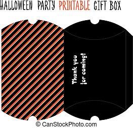 Halloween party. Printable gift box. - Printable gift box...