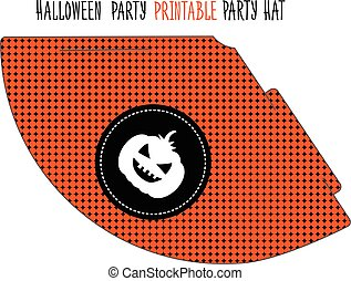 Halloween party. Printable hat