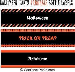 Halloween party. Printable bottle labels - Printable bottle...