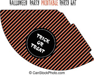 Halloween party. Printable hat - Printable hat for Halloween...