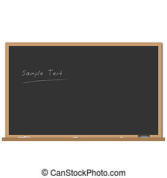 Chalkboard - Image of a chalk board with editable text.