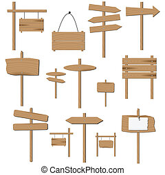 Wooden Signs - Image of various blank wooden signs.