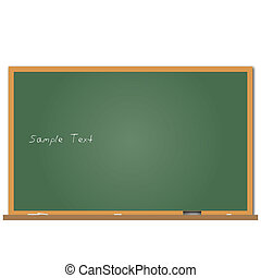 Image of a chalkboard with sample text