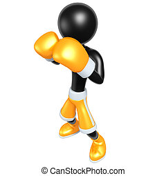 Boxing - 3D Cartoon Boxing Concept And Presentation Figure