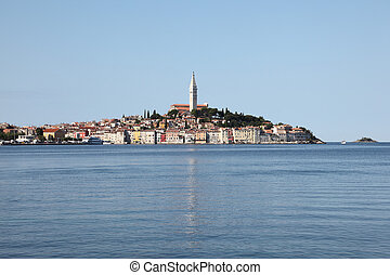 The old town of Rovinj in Croatia